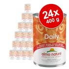Lot Almo Nature Daily Menu 24 x 400 g pour chat