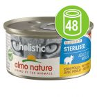 Lot Almo Nature Holistic Specialised Nutrition 48 x 85 g pour chat