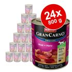 Lot Animonda GranCarno Original Adult 24 x 800 g pour chien
