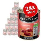 Lot Animonda GranCarno Sensitive 24 x 800 g pour chien
