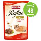 Lot Animonda Rafiné 48 x 100 g pour chat