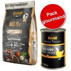 Lot Belcando Mix It Grain-Free 3 kg + Belcando Single Protein 6 x 400 g pour chien