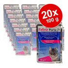 Lot Feline Porta 21, 20 x 100 g pour chat
