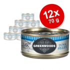 Lot Greenwoods Adult 12 x 70 g pour chat