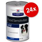 Lot Hill's Prescription Diet Canine 24 x 350/360/370 g pour chien