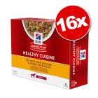 Lot Hill's Science Plan Adult Healthy Cuisine 16 x 80g pour chien