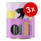 Lot Maxi Tube CosmaSnackies XXL friandises lyophylisées pour chat