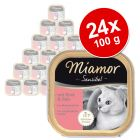 Lot Miamor Sensibel 24 x 100 g pour chat