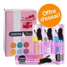 Lot mixte Cosma Snackies XXL + Cosma Thai pour chat