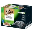 Lot mixte de barquettes Sheba 12 x 85 g pour chat