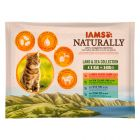Lot mixte IAMS Naturally Adult pour chat