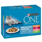 Lot mixte PURINA ONE Chat stérilisé 8 x 85 g