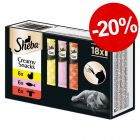 Lot mixte Sheba Creamy Snacks pour chat (18 x 12 g) : 20 % de remise !
