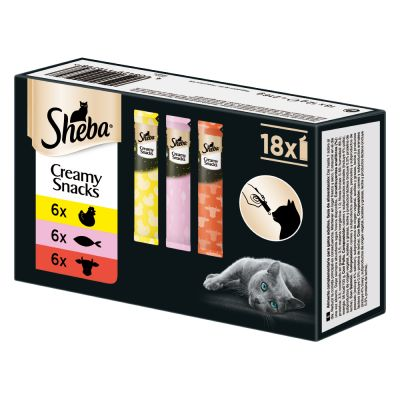 Lot mixte Sheba Creamy Snacks pour chat