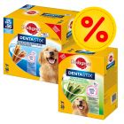 Lot Pedigree 2 saveurs : 56 Dentastix + 28 Dentastix Fresh