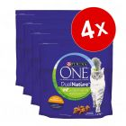 Lot PURINA ONE Dual Nature 4 x 1,4 kg pour chat