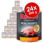Lot Rocco Real Hearts 24 x 800 g pour chien