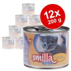 Lot Smilla Kitten 12 x 200 g pour chaton