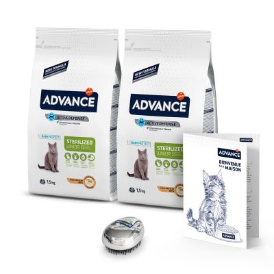 Lot Advance Junior Sterilized pour chat