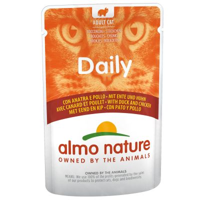 Lot Almo Nature Daily Menu 24 x 70 g pour chat