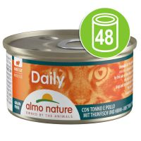 Lot Almo Nature Daily Menu 48 x 85 g pour chat