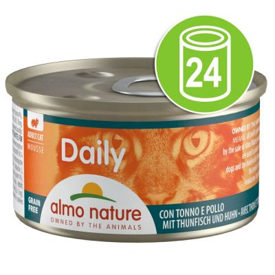 Lot Almo Nature Daily 24 x 85 g pour chat