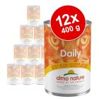 Lot Almo Nature Daily 12 x 400 g pour chat
