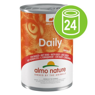 Lot Almo Nature Daily 24 x 400 g pour chat