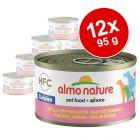 Lot Almo Nature HFC pour chien, 12 x 95 g