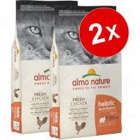 Lot Almo Nature Holistic 2 x 12 kg pour chat