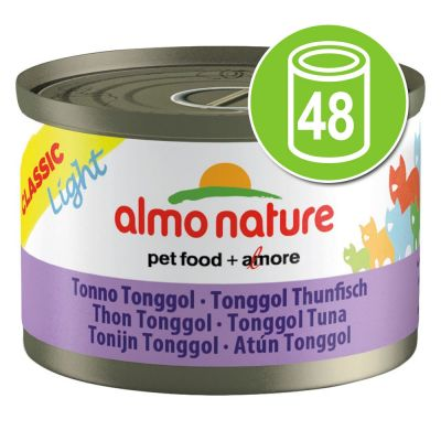 Lot Almo Nature Light  48 x 50 g pour chat