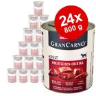 Lot Animonda GranCarno Original Adult 24 x 800 g pour chien