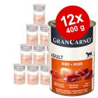 Lot Animonda GranCarno Original 12 x 400 g pour chien