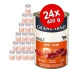 Lot Animonda GranCarno Original 24 x 400 g pour chien