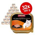Lot Animonda vom Feinsten Adult 32 x 100g pour chat