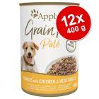 Lot Applaws Grain Free Pâté 12 x 400 g pour chien