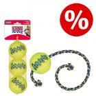 Lot ! Balles de tennis + KONG SqueakAir Ball avec corde