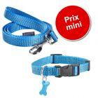 Lot Bobby Safe, bleu : collier + laisse pour chien