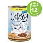 Lot Catessy Bouchées en gelée 12 x 400 g pour chat