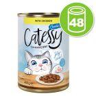 Lot Catessy Bouchées en gelée 48 x 400 g pour chat