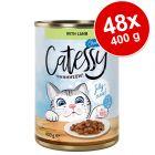 Lot Catessy Bouchées en sauce ou en gelée 48 x 400 g pour chat