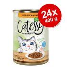 Lot Catessy Bouchées en sauce ou en gelée 24 x 400 g pour chat