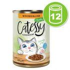 Lot Catessy Bouchées en sauce 12 x 400 g pour chat