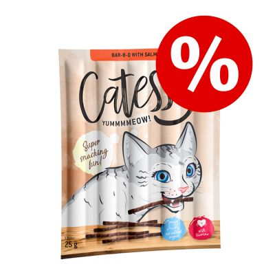 Lot Catessy, 50 x 5 g bâtonnets à mâcher pour chat