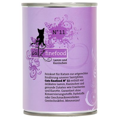 Lot catz finefood 24 x 400 g pour chat