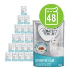 Lot Concept for Life 48 x 85 g pour chat