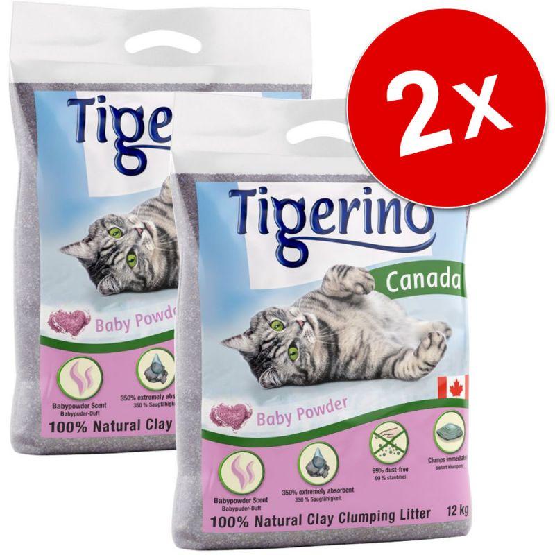 Lot économique litière Tigerino 2 x 12 kg