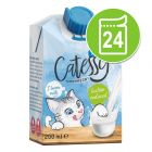 Lot économique 24 x Lait Catessy pour chat
