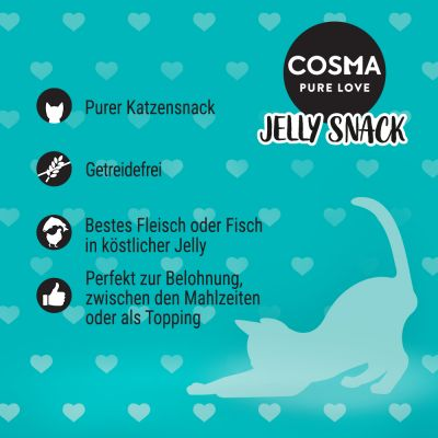 Lot Cosma Jelly Snack 24 x 14 g