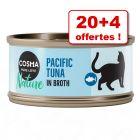 Lot Cosma Nature 70 g pour chat : 20 + 4 boîtes offertes !